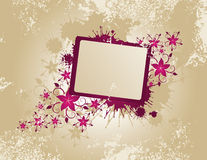 Floral frame. With place for text Stock Illustration