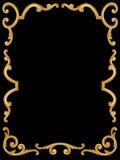 Floral frame. Vector floral frame on black background Royalty Free Stock Photos