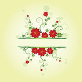 Floral frame. With place for text Stock Photos