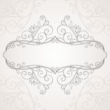 Floral frame. Abstract floral background Royalty Free Stock Photo