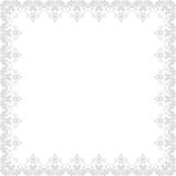 Floral  Frame. Abstract Silver Ornament Royalty Free Stock Images