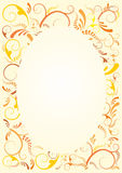 Floral frame background Stock Photo