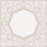 Floral frame background in arabic motif Stock Image