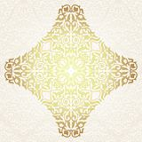 Floral frame background in arabic motif Stock Images