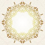 Floral frame background in arabic motif Royalty Free Stock Image