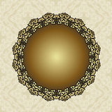 Floral frame background in arabic motif Stock Photo