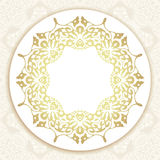 Floral frame background in arabic motif Royalty Free Stock Photos