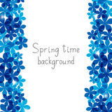 Floral frame background with copy space Royalty Free Stock Photography