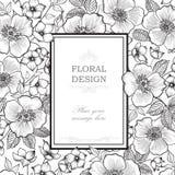 Floral frame background. Flower bouquet border. Floral vintage c Stock Photos