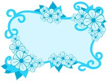 Colorful Floral frame isolated Stock Photos