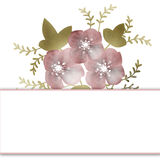 Floral frame background wedding invitation or birthday card Royalty Free Stock Photography