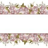 Floral frame background wedding invitation or birthday card Stock Photo