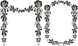 Floral frame - balck and white Royalty Free Stock Photography