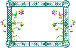 Floral frame/banner. Abstract floral design with frame Royalty Free Stock Photo