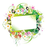 Floral frame beautiful Stock Photos