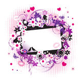 Floral frame beautiful Royalty Free Stock Images