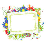 Floral frame beautiful with place for your text Stock Photos