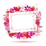 Floral frame beautiful with place for your text Stock Photo