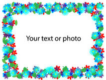 Floral frame. Beautiful floral frame. For your text or photos Stock Photos