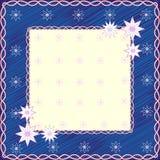 Floral Frame. On blue background. Vector Illustration Royalty Free Stock Photo