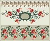 Floral frame and border. Royalty Free Stock Images