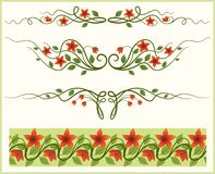Floral frame and border. Stock Images