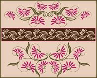 Floral frame and border. Stock Photo