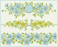 Floral frame and border. royalty free stock image