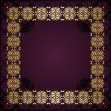 Floral frame. Floral border. Abstract flower background Stock Photo