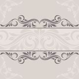 Floral frame. Floral border. Abstract flower background Stock Photography