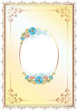 Floral frame and border one. Classic decorative frame and border decorated with flowers Stock Photography