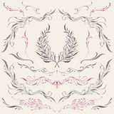 Floral frame and Border Ornaments. Elements vector for Use Royalty Free Stock Images