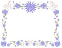 Floral frame with butterflies and decorations Royalty Free Stock Photography