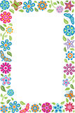 Floral frame with butterflies. Colorful floral frame with butterflies Royalty Free Stock Images