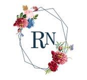 Floral frame card design illustration Royalty Free Illustration