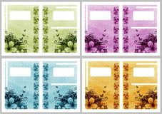 Floral frame cards Stock Photos