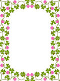 Floral frame with a clover Royalty Free Stock Photo