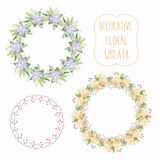 Floral Frame Collection. Set of elegant floral wreath. Design for wedding invitations and birthday cards. Vector Illustration Stock Photo