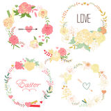 Floral Frame Collection Royalty Free Stock Image