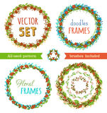 Floral Frame Collection. Vector set. Stock Image