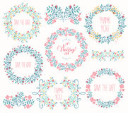 Floral Frame Collection. Stock Image