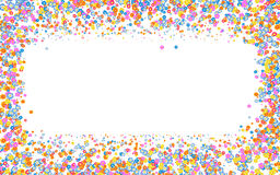 Floral frame with colorful abstract flowers and empty space. Floral frame with colorful medium size abstract flowers and empty space on center Stock Photo