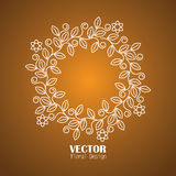 Floral frame with copy space for text - concept vector icon Royalty Free Stock Photos