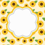 Floral frame. Floral frame with copy space. Vector illustration Royalty Free Stock Photos
