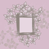 Floral frame in country style Royalty Free Stock Photos