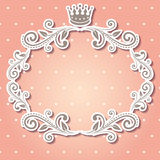 Floral frame with crown Royalty Free Stock Images