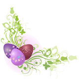 Floral frame decorated with Easter Eggs Stock Image