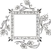 Floral frame decoration Royalty Free Stock Photography
