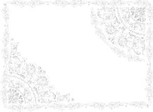 Floral frame decoration sketch Royalty Free Stock Photography