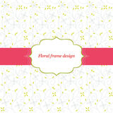 Floral frame design Royalty Free Stock Photography